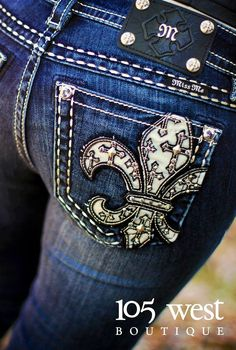Miss Me jeans.  One of my favorite brands of jeans.