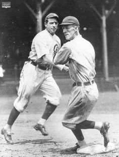 DOUBLE PLAY DUO: Joe Tinker and Johnny Evers of the Cubs. Oddly, they never talked to one another. Along with Frank Chance, they led the Cubs to National League pennant in and When Evers was later named manager, Tinker was displeased and was traded. Cubs Pictures, Baseball Pictures, Famous Baseball Players, Mlb Players, Nationals Baseball, Cubs Baseball, Cubs Team, Cubs Win, America's Pastime