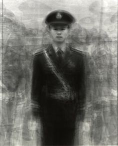 24 guards in Tiananmen Square, Beijing, China  Pilling portrait by Ben Kitano