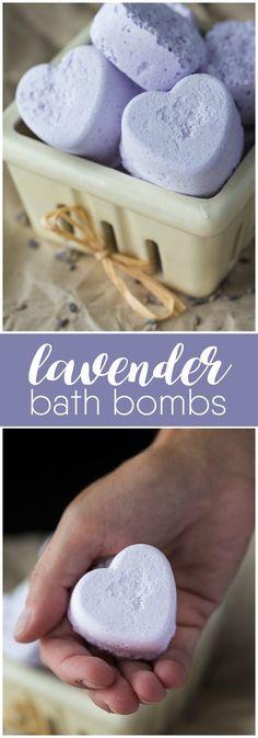 Bombas do banho de lavanda - Você vai se surpreender com o quão fácil é para fazer suas próprias bombas de banho.  Mantê-los, vendê-los ou prenda-os!