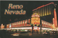 Reno, Nevada: Cal-Neva and Virginian Old Reno postcard. Hagins collection.