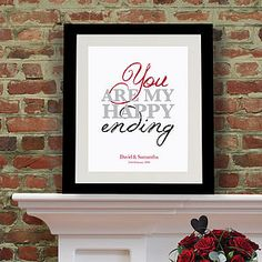 Personalised 'You Are My Happy Ending' Art - paintings & canvases