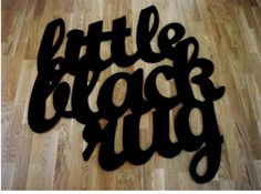 Typeverything.com    'Little Black Rug' by John Pour Home.