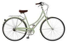 Meet Bike #2! No name yet. I am continuing the green bike series. ETA: Her name is Jolie, The Steel boned Beauty.