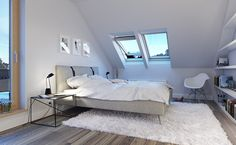 orzeszkowe pole, www. Loft, Attic Rooms, Skylight, New Room, Master Bedroom, Ikea, Sweet Home, Interior Design, Architecture