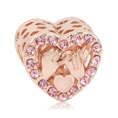 2019 New Rose Gold Blush Pink Magnolien Bloom Bead Fit Original Pandora Charms und andere Favoriten - 2019 New Rose Gold Blush Pink Magnolien Bloom Bead Fit Original Pandora Charms und andere Favoriten - Diy Jewelry To Sell, Diy Jewelry Making, Rose Gold Charms, Wire Wrapped Jewelry, Pandora Charms, Blush Pink, Bloom, Charmed, Beads