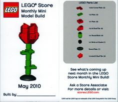 Romancing the Lego: Lego Roses, Hearts and Jewelry Lego Creations Instructions, Lego Ornaments, Lego Valentines, Valentine Crafts, Lego Creative, Lego Activities, Lego Craft, Lego Store, Lego Disney