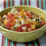 Chunky Tomato-Fruit Gazpacho Recipe | MyRecipes.com