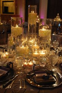 really cool candle tablescape