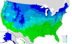How much snow does your state need to have a snowday?