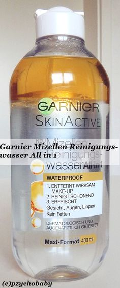 Mizellen Reinigungswasser All-in 1 Waterproof - Abschminken leicht gemacht