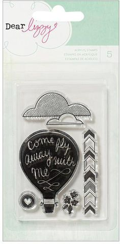 American Crafts Dear Lizzy Lucky Charm Phrases - Balloon - Clear Stamp. Dear Lizzy Lucky Charm: Clear Acrylic Stamps. These stamps add a fun little design to an