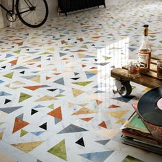 From innovative moss walls to stunning terrazzo: discover this year's emerging trends at Surface Design Show 2018 - netMAGmedia Ltd Floor Patterns, Tile Patterns, Floor Design, Tile Design, Design Design, Design Trends, Terrazzo Flooring, Stone Flooring, Damier
