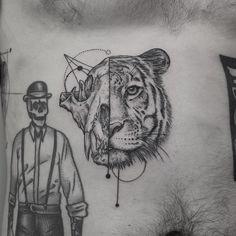 tiger head tattoo idea by @emrahozhan
