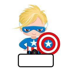 Colección de gafetes diferentes motivos Superhero Classroom, Classroom Labels, Superhero Kids, Superhero Party, Classroom Decor, Sermon Illustrations, School Labels, Batman Party, Clip Art