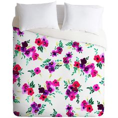 ava floral pink Duvet Cover ($145) ❤ liked on Polyvore featuring home, bed & bath, bedding, duvet covers, floral bedding, flowered bedding, pink floral bedding and pink bedding