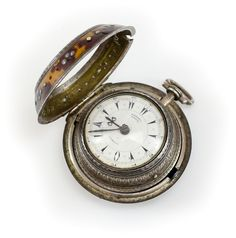 c.1860 Edward Prior Brittish, Shell & Silver Triple Case Pocket Watch Fusee