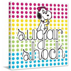 Marmont Hill Sugar Shock Peanuts Print on Canvas, Size: 24 inch x 24 inch, Multicolor