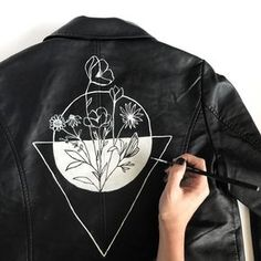 Custom hand painted jacket by Alli K Design