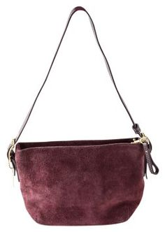 9586d9ed6ea78 GB1022586K Coach Purple Suede Shoulder Bag Coach bag is made from purple  suede and leather with. Tradesy