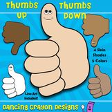 Thumbs Up, Thumbs Down - FREE Clip Art