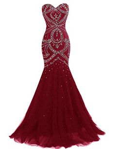 Dresstells® Long Mermaid Prom Dress Corset Back Tulle…