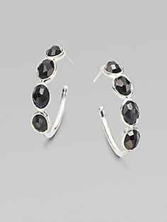 Ippolita - Black Onyx Sterling Silver Hoop Earrings