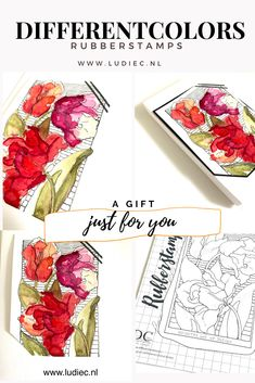 Different Colors, Just For You, Stamping, Cards, Gifts, Google, Flowers, Tulips, Presents