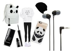 """""""Pandas are awesome"""" by pengasarousrex ❤ liked on Polyvore featuring Acne Studios, Converse, Casetify, Lord & Berry, Chanel and Sony"""