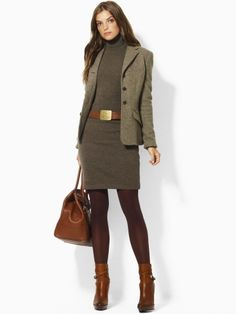 Women's Work Fashion 2019 - Wool jacket skirt boots winter fashion - Women Fashion World Style Work, Mode Style, Business Mode, Business Attire, Business Casual, Business Formal, Business Outfits, Business Fashion, Blazer Outfits