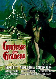 Cine Female Vampire, Vampire Art, Horror Movie Posters, Movie Poster Art, Hammer Horror Films, Hammer Films, Dracula, Pulp Fiction Book, Horror Artwork