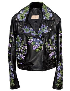 Christopher Kane - Georgia Biker Leather Jacket