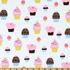 Michael Miller Cupcake Party Aqua
