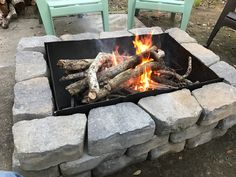 Inexpensive Fire Pit made from a 55 Gallon Drum, a grate ...