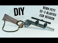Learn how to build Boba Fett's blaster using parts from a home improvement store! Boba Fett Armor, Boba Fett Cosplay, Boba Fett Mandalorian, Mandalorian Cosplay, Jango Fett, Star Wars Boba Fett, Star Wars Guns, Star Wars Art, Storm Trooper Costume