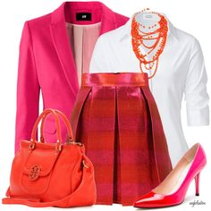 Pink and Orange Contest #2, created by angkclaxton on Polyvore
