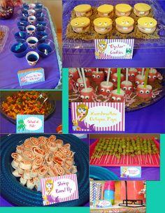 Mermaid Snacks & Signs I made!