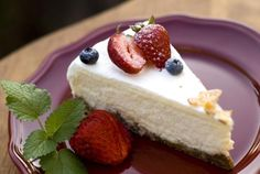 Here is a recipe for a great basic low-carb cheesecake, with links to other low-carb cheesecake recipes. Great topped with fruit.