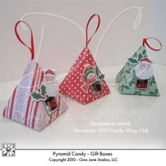 Hershey Kisses, Gift and Treat Boxes - Printables - Cute do it yourself hand made Christmas Gift Boxes  or Ornaments -   Gina Jane Designs - DAISIE Company