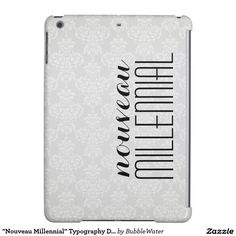 """""""Nouveau Millennial"""" Typography Damask iPad Air Cover"""