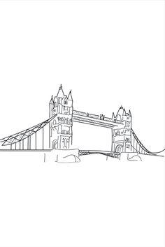 Black And White Wall Art, London Bridge, Digital Wall, City Art, Decoration, All Print, Wall Decor, Prints, Collection