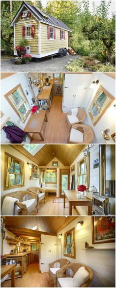 The Bayside Bungalow is based on the popular Cypress design from the Tumbleweed Tiny House Company. The bungalow is located in Olympia, Washington and is for rent through Airbnb.