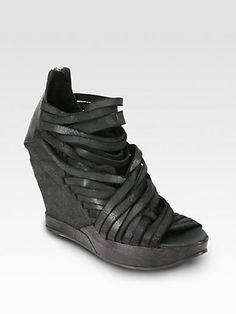 LD Tuttle - Ruin Distressed Leather Wedge Ankle Boots - Saks.com