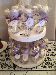 Cake pops for a Sweet Sixteen!