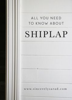 DIY shiplap ideas