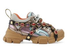 6f4a8ae2d25 Gucci F W18 Flashtrek Sneakers With Removable Crystals
