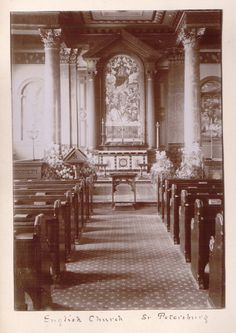 Interior of English Church - early 1900s (Photo courtesy of Alec Jeakins)