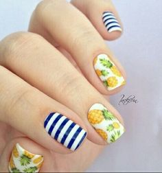Pineapple nail art More