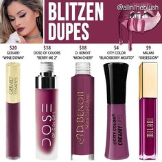 Kylie Lip Kit Dupes in Blitzen See this Instagram photo by @allintheblush • 1,269 likes