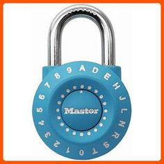 Master Lock 1590D Set Your Own Combination Lock, Assorted Colors - Dont forget to travel (*Amazon Partner-Link)